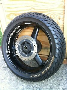Yamaha R6 2002 front and rear wheel sets with rain tires Windsor Region Ontario image 4