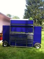 THE BEST SNAP ON 3 BAY PIT NASCAR STYLE WAGON/BOX  WITH EXTRAS