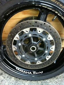 Yamaha R6 2002 front and rear wheel sets with rain tires Windsor Region Ontario image 3