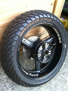 Yamaha R6 2002 front and rear wheel sets with rain tires Windsor Region Ontario image 5