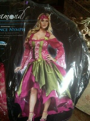 ADULTS WOMENS RENAISSANCE STYLE FAIRY QUEEN SEXY FANCY DRESS COSTUME - Fairy Renaissance Costumes
