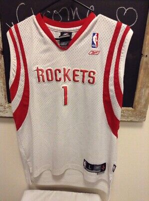 REEBOK NBA Jersey TRACY McGRADY#1 HOUSTON ROCKETS Youth L (14-16) Sewn +2 Length