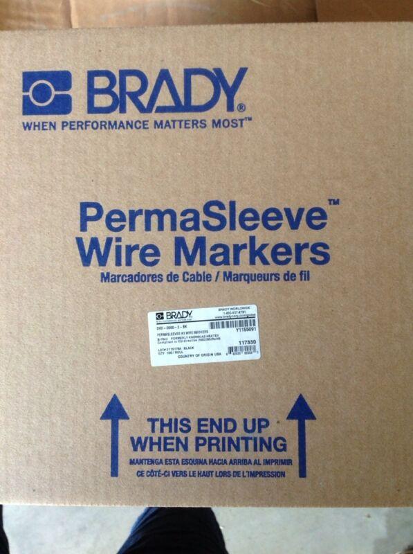 Brady 2HX-2000-2-BK, 117330 PermaSleeve Wire Marking Sleeve