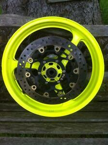 CBR600RR HONDA 03-06 SET OF STOCK WHEELS WITH DISKS/ROTORS Windsor Region Ontario image 2