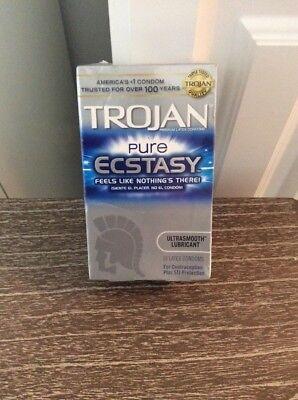 Trojan Pure Ecstasy Premium Latex Condoms 10 Pack Exp Date 11/2018 Or