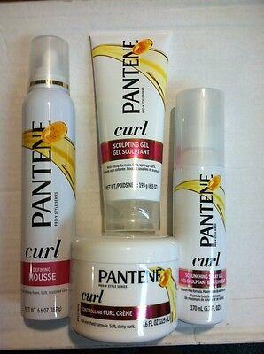 Mix lot of 4 x Pantene Curl Cream, mousse, sculpting gel, scrunching spray gel