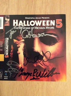 SIGNED x4 Alan Howarth Halloween 5: The Revenge of Michael Myers Blu-ray + Pics ()