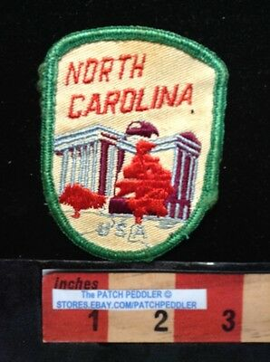 Green Border PATCH NORTH CAROLINA USA STATE CAPITAL BUILDING 61G2