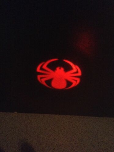 NEW Mini LED Flashlight with keychain projects red spotlight with spider design