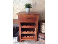 Solid Indian Sheesham mango Wood Wine Rack Cabinet