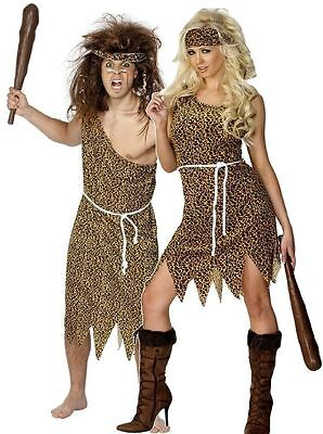 Caveman Cavewoman Costume - Mens Womens Fancy Dress - Halloween Fancy Dress (Mens Caveman Kostüm)