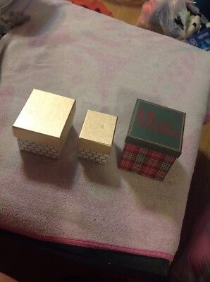 Lot Of 3 Empty Gift Boxes - Assorted Sizes - Great For - Gift Boxes For Christmas