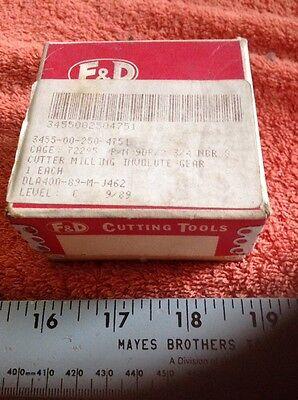 Fd Involute Gear Cutter No. 8 9 Dp 14 12 Pa Nsn 3455-00-250-4751