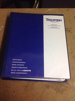 Triumph Daytona & Speed Triple 955i Genuine Service Manual