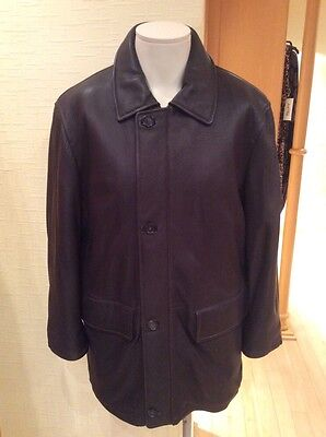 Milestone Mens Leather Coat Size M Bnwot Brown Rrp  395 Now  138