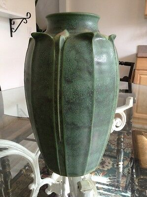 Jemerick Art Pottery Large Vase in Green Mat Finish Signed Steve Frederick