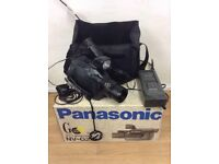 Panasonic NV-G2B - VHS-C Camcorder with Bag, Box, VHS Video Adapter and Battery + Charger