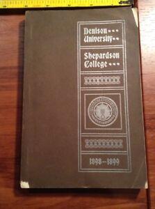 1898-1899 Denison University Shepardson College Annual Catalogue Granville Ohio