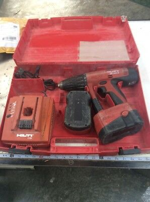 Hilti Uh-240a Cordless Hammer Drill Wcase Good Condition W2 Working Batteries