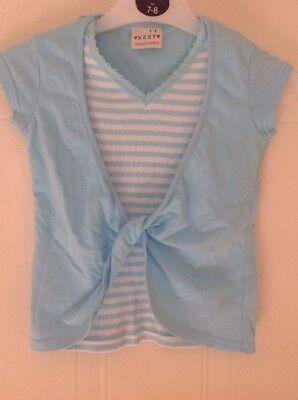 Cute NEXT Blue & White Striped Top - Age 3