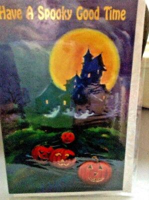 Halloween Spooky Greeting Card NIP Unused+env - Spooky Halloween Greetings