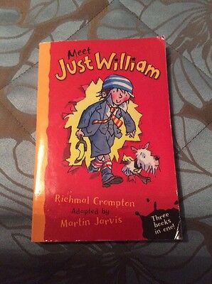 Meet Just William book by Martin Jarvis Ex Con, used for sale  Shipping to South Africa