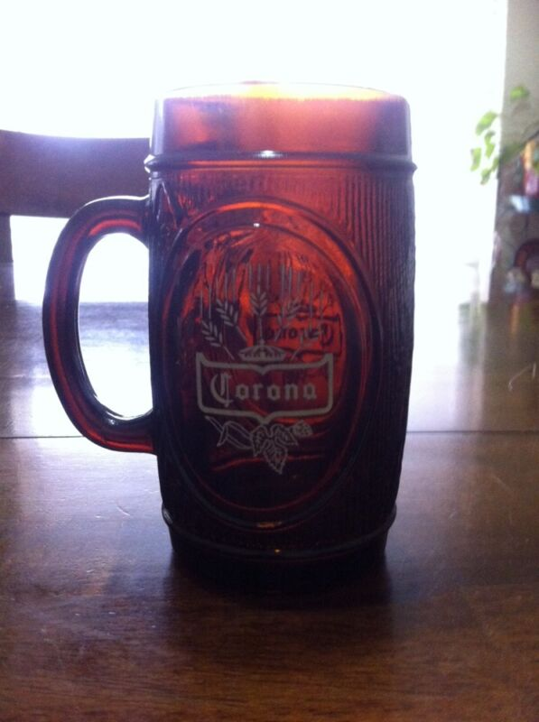 Corona Beer Amber Glass Mug