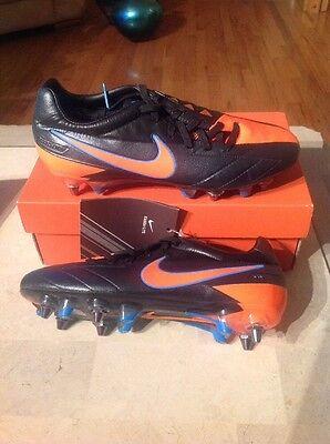 ec3edb282 New Nike T90 Laser IV KL SG-PRO Soccer Boots Shoes Black TTL Orange Size 7.5