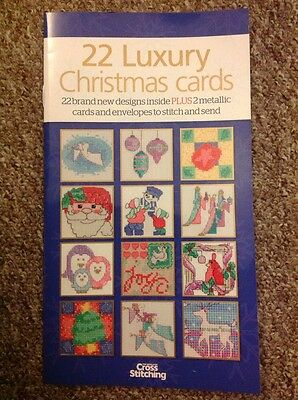 Luxury Cards Christmas Cross Stitch Chart Book