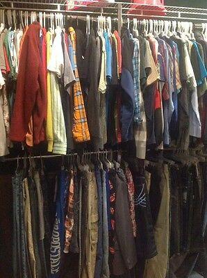 50 Pc Mens Clothing Shirts Pants Shorts Used S-3x Clothes Bulk Wholesale Lot