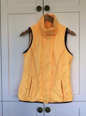Lululemon 6 Yellow Glacier Vest Fleece Lined, Super Warm Running Jacket No Hood