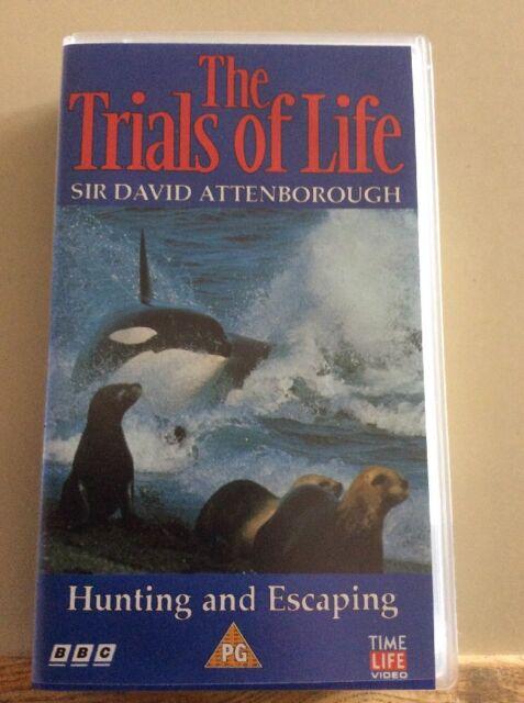 BBC. Time Life. THE TRIALS OF LIFE VHS VIDEO. Sir David Attenborough.