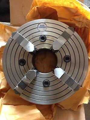 Buck Forkardt 4-jaw Power Chuck 10in Dia.-lathe 3in Center Hole