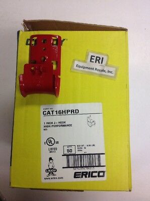 "Erico Caddy CAT16HPRD, 1"" High Performance Red Cable J-Hook, Box Of 50. Loc 48A"