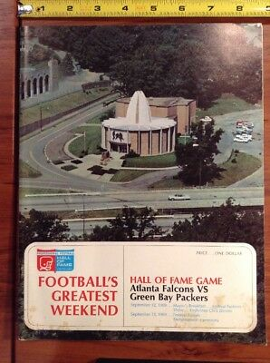 1969 NFL Hall Of Fame Game Football Program Atlanta Falcons Green Bay Packers ()