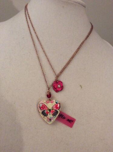 Betsey Johnson Authentic Gold-tone Butterfly Locket Layer...