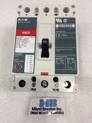 Hmcp150t4c Cutler Hammer 3pole 150a 600v Mag Circuit Breaker New