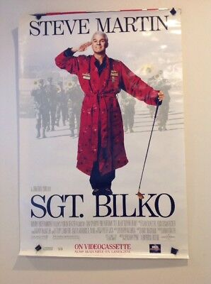 "Vintage Original 1990's Movie Poster 27""x40"" Comedy Steve Martin SGT. BILKO"