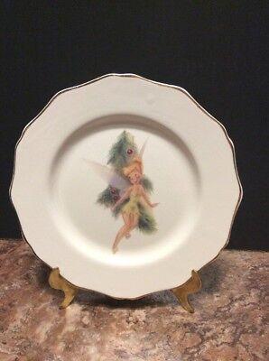 "Disney Direct 9"" Dinner/Dessert Plate Vintage Christmas Peter Pans - Tinkerbell"