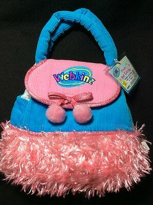 Webkinz Plush Pet Carrier New Pink Blue Corduroy HC076