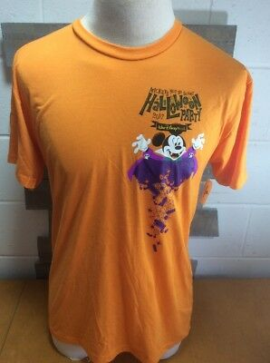 Walt Disney World Mickeys Not So Scary Halloween Party Mens Lg Shrt Sleeve Tshrt