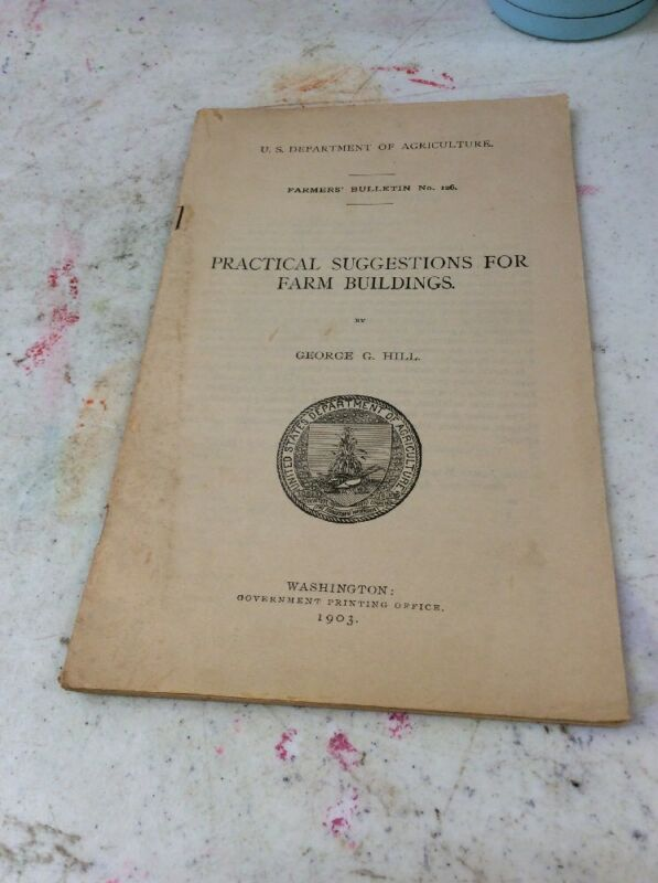 US DEPARTMENT OF AGRICULTURE FARMERS BULLETIN 1903 Suggestion Farm Building