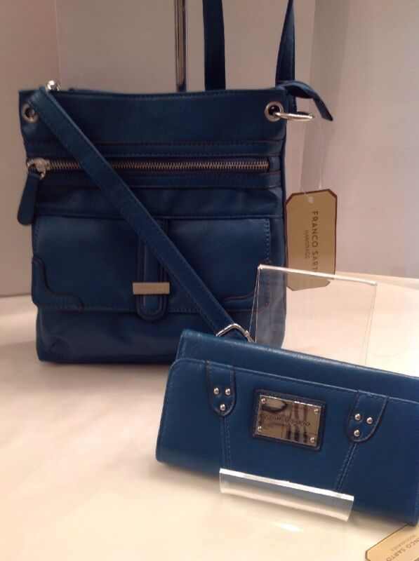 NEW Franco Sarto Cross-Body/Shoulder Bag & Matching Wallet. Dark Teal