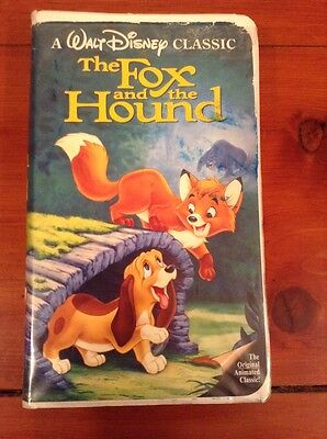 The Fox and the Hound VHS Tested / Black Diamond The Classic RARE Walt Disney