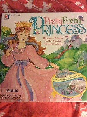 New Sealed 1999 Pretty Pretty Princess Board Game Hasbro Girls Play Dress Up Fun