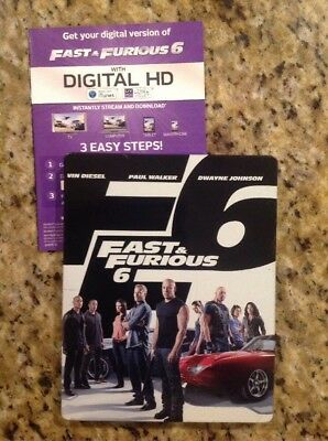 Fast  Furious 6 (Blu-ray/DVD, 2013, 2-Disc Set, STEELBOOK)Authentic US Release