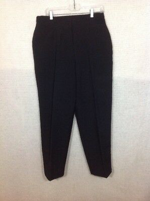 Kathie Lee Collection Dress Pants 16 Petite Black Stretch Side Waist Insets Poly