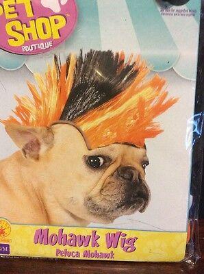 Mohawk/Punk Rock Wig Halloween Costume For Dogs S/M - Punk Rock Dog Kostüm