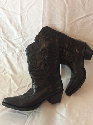 R. Soles By Judy Rothchild Black Mid Calf Leather Boots Size 36 for sale  Shipping to Ireland