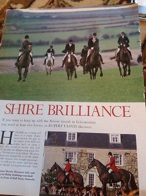 (51401 Ephemera 2004 Article With The Belvoir Hounds Leicester)